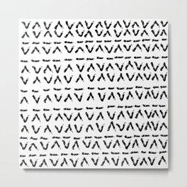 Tribal ink pattern  Metal Print