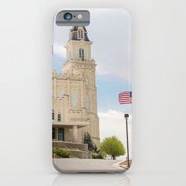 Manti Utah LDS Temple iPhone Case