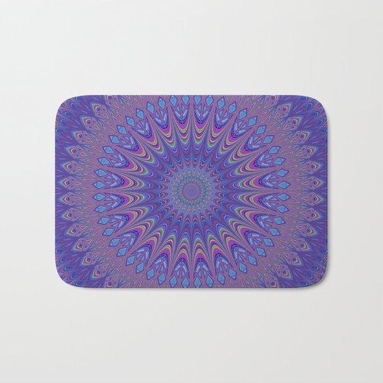Purple mandala Bath Mat