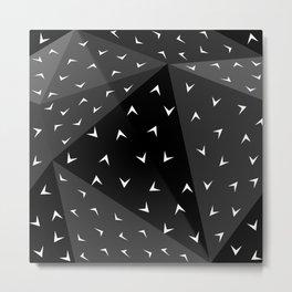 Folded Surface Speckle Dark Metal Print