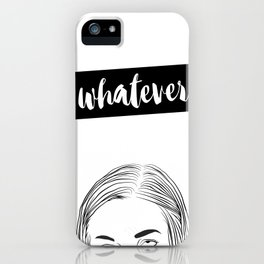 Whatever Illustration iPhone Case