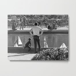 The Boating Pond Metal Print