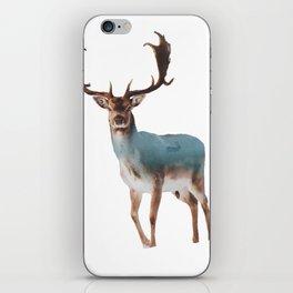 Deer Double Exposure iPhone Skin