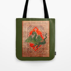 Green Dragon - Garden of Beasts Collection Tote Bag