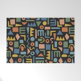 Colorful Shapes Welcome Mat