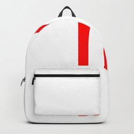 LETTER m (RED-WHITE) Backpack