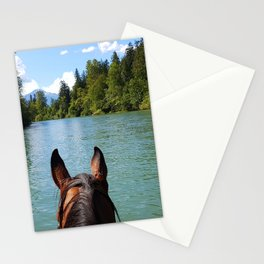 Going for a ride up the river Stationery Cards