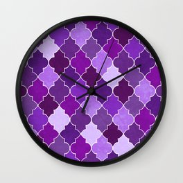 Morocco Orchid Wall Clock