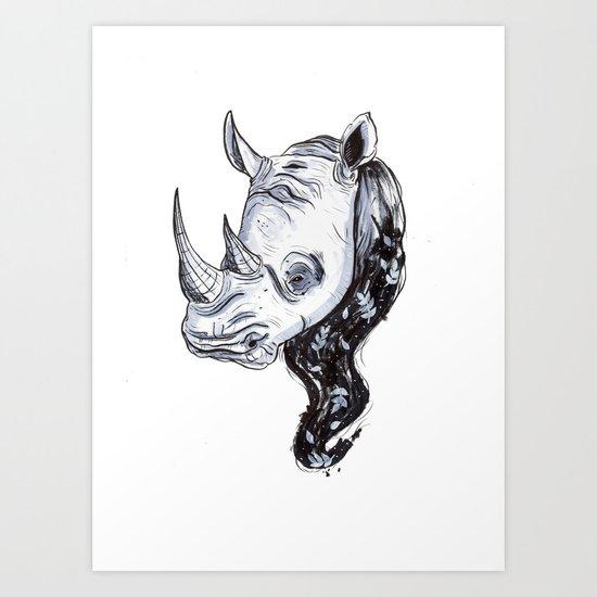 Rhinhost Art Print