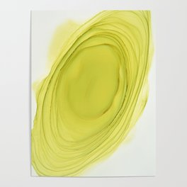 Green Swirl Composition Poster