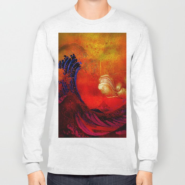 The whale and the wave Long Sleeve T-shirt