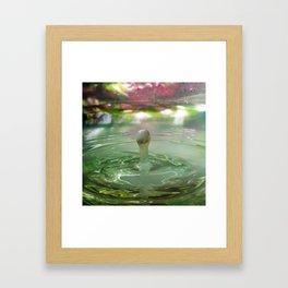Milk drop 1 Framed Art Print