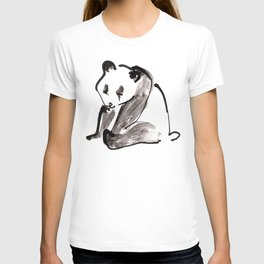 Cute Little Panda Bear Ink Illustration T-shirt