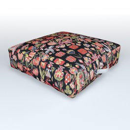 Täcke Antique Swedish Skåne Wedding Blanket Print Outdoor Floor Cushion
