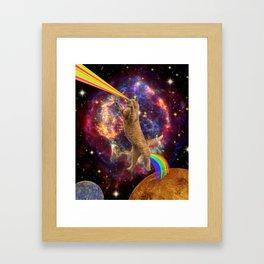 CAT SPACE  Framed Art Print