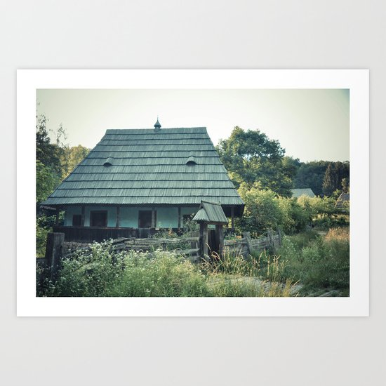 House in the mountains Art Print