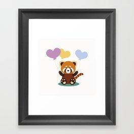 Lovely Red Panda Framed Art Print