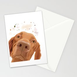 Curious Hungarian Vizsla Dog Stationery Cards
