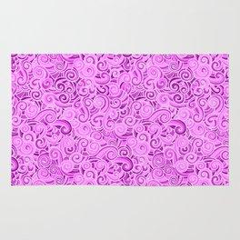 swirl violet Rug