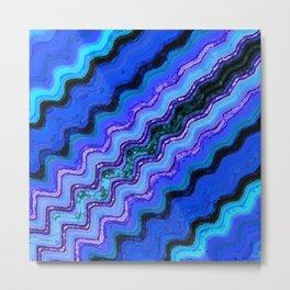 Blue Tranquil Waves Metal Print