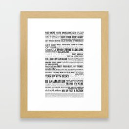 Guide to the Future Framed Art Print