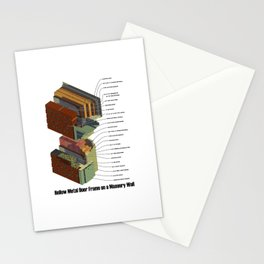 Hollow Metal Door Frame on a Masonry Wall Stationery Cards