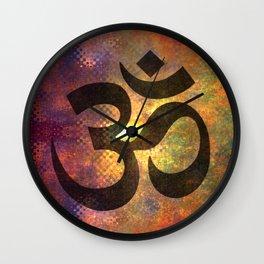 Power of Om Wall Clock