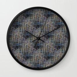 Reed Pattern Wall Clock