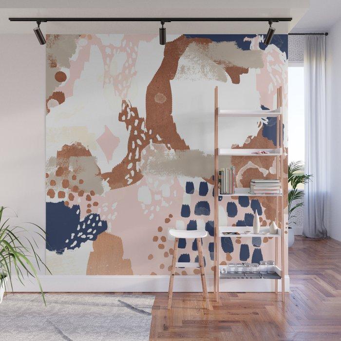 Skadi Metallic Painting Abstract Minimal Nursery Home Decor Dorm College Art Wall Mural