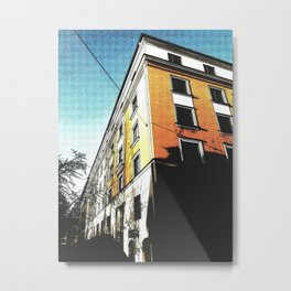 The Orange Building Metal Print