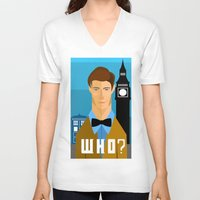 the who V-neck T-shirts featuring Who? by Mountain Top Designs