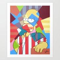 homer Art Prints featuring Homer Simpson by iankingart