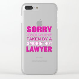 TAKEN BY A LAWYER Clear iPhone Case