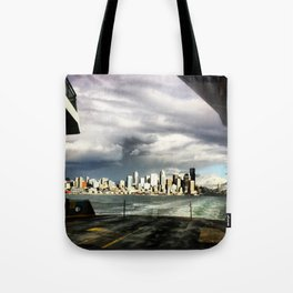Seattle Ferry Boat Ride Tote Bag