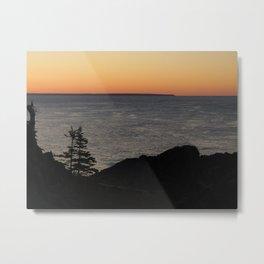 Sunset on the Ocean Metal Print
