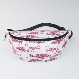 Raspberry pink fish. Fanny Pack