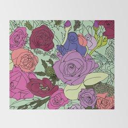 Flowers Bouquet Throw Blanket