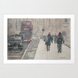 London Snow Art Print