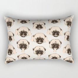 No Evil Pug Rectangular Pillow