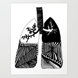 Particle Filtration - Lungs - Respiratory System Art Print