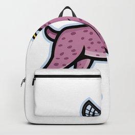 Bobcat or Lynx Lacrosse Mascot Backpack