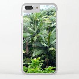 Hawaiian Rainforest Clear iPhone Case