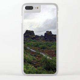 Dimmuborgir Lava Maze in the Mývatn Area of Northeast Iceland (2) Clear iPhone Case