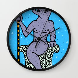 DOLPHIN KING.  (Death Without Porpoise). Wall Clock