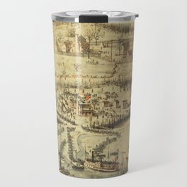 Old Roanoke Island Burnside Expedition Map (1862) Travel Mug