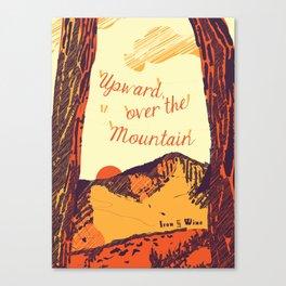 Upward over the Mountain: Sunset Canvas Print