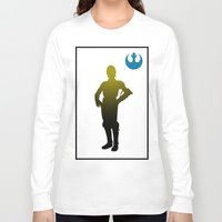 c3po Long Sleeve T-shirts featuring c3po by inkleach