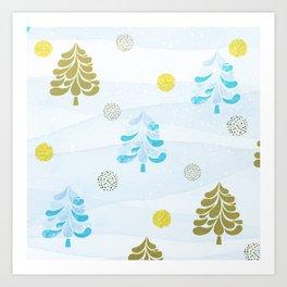 Christmas Trees 2.0 Art Print