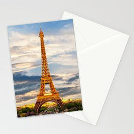 France Photography - The Eiffel Tower In A Beautiful Sunset Stationery Cards