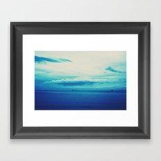 dark blue day Framed Art Print